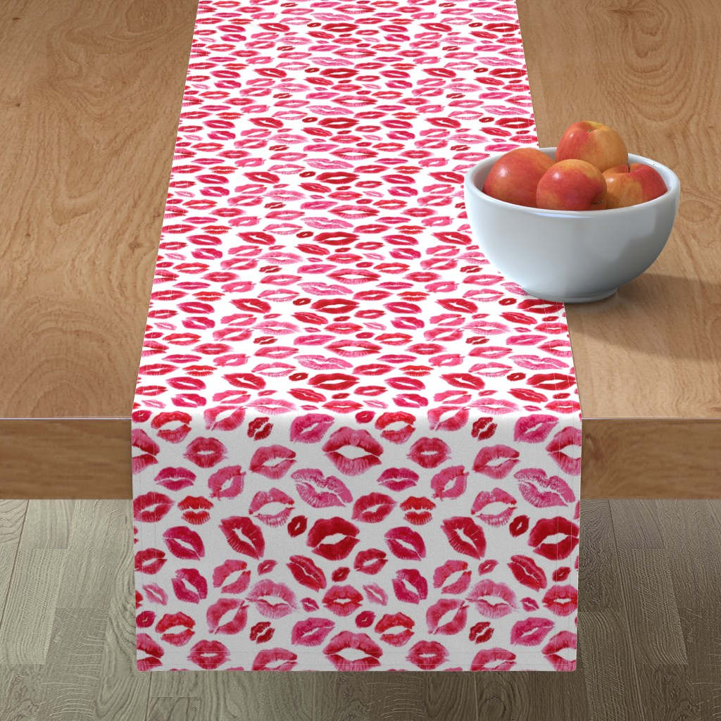 Minorca Table Runner featuring Love Lips // Red by hipkiddesigns