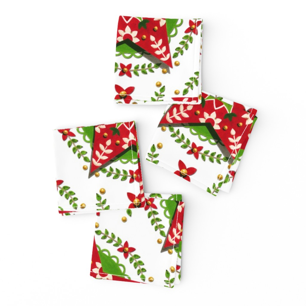Frizzle Cocktail Napkins featuring Folkloric Holiday Star by patriciasheadesigns