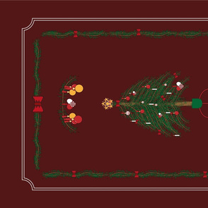 Scandinavian holiday tea towel