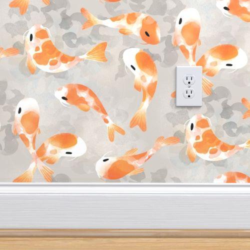 Wallpaper Japanese Koi Fish Extra Small