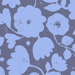 kind of blue-moody floral
