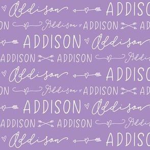 Girls Personalized Name Baby Fabric - Addison