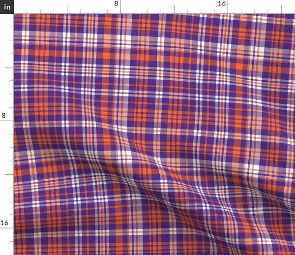 f670f4aa05e orange and purple plaid fabric clemson - Spoonflower
