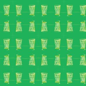 Moroccan tea glass green