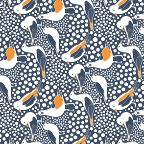 SEA BIRDS BUBBLES TEA TOWEL