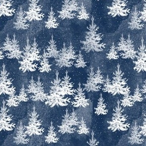 Christmas Pine Forest (navy)