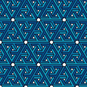 Impossible Triangles - Blue