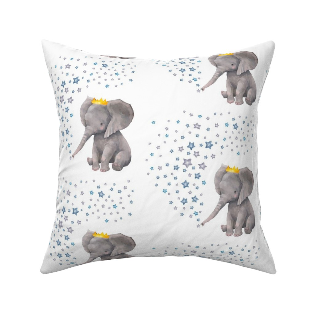 """Catalan Throw Pillow featuring 8"""" Baby Boy Elephant with Stars Mix & Match by shopcabin"""