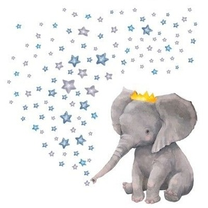 "8"" Baby Boy Elephant with Stars Mix & Match"