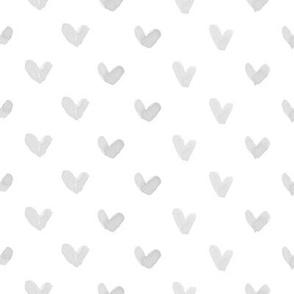 Love Hearts // Light Gray