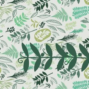 Botanical Block Print Tea Towel Design