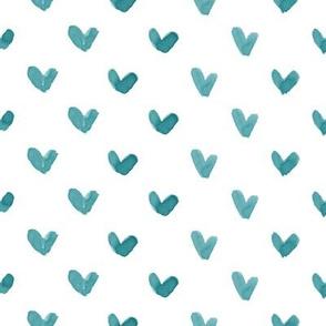 Love Hearts // Teal
