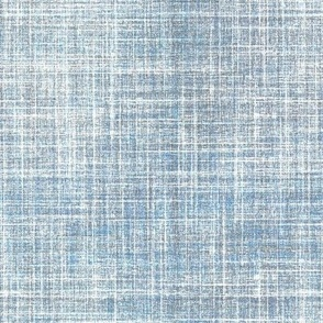 Blue Smoke faux linen