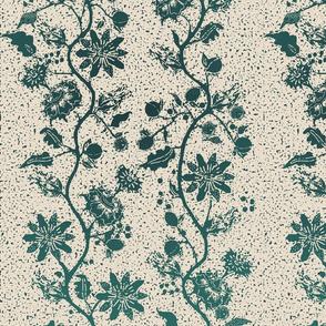 palampore wallpaper teal