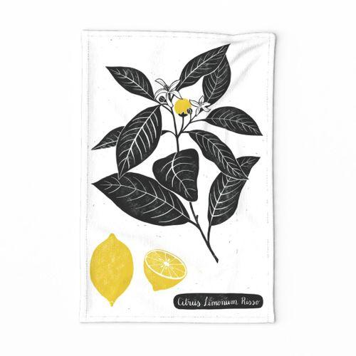 Citrus Limonum Tea Towel