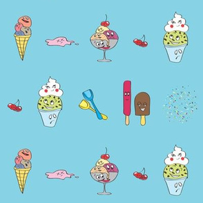 Ice cream drama (blue)