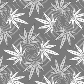 ★ CHECKERED WEED ★ Black & White - Large scale / Collection : Cannabis Factory 2 – Marijuana, Ganja, Pot, Hemp and other weeds prints