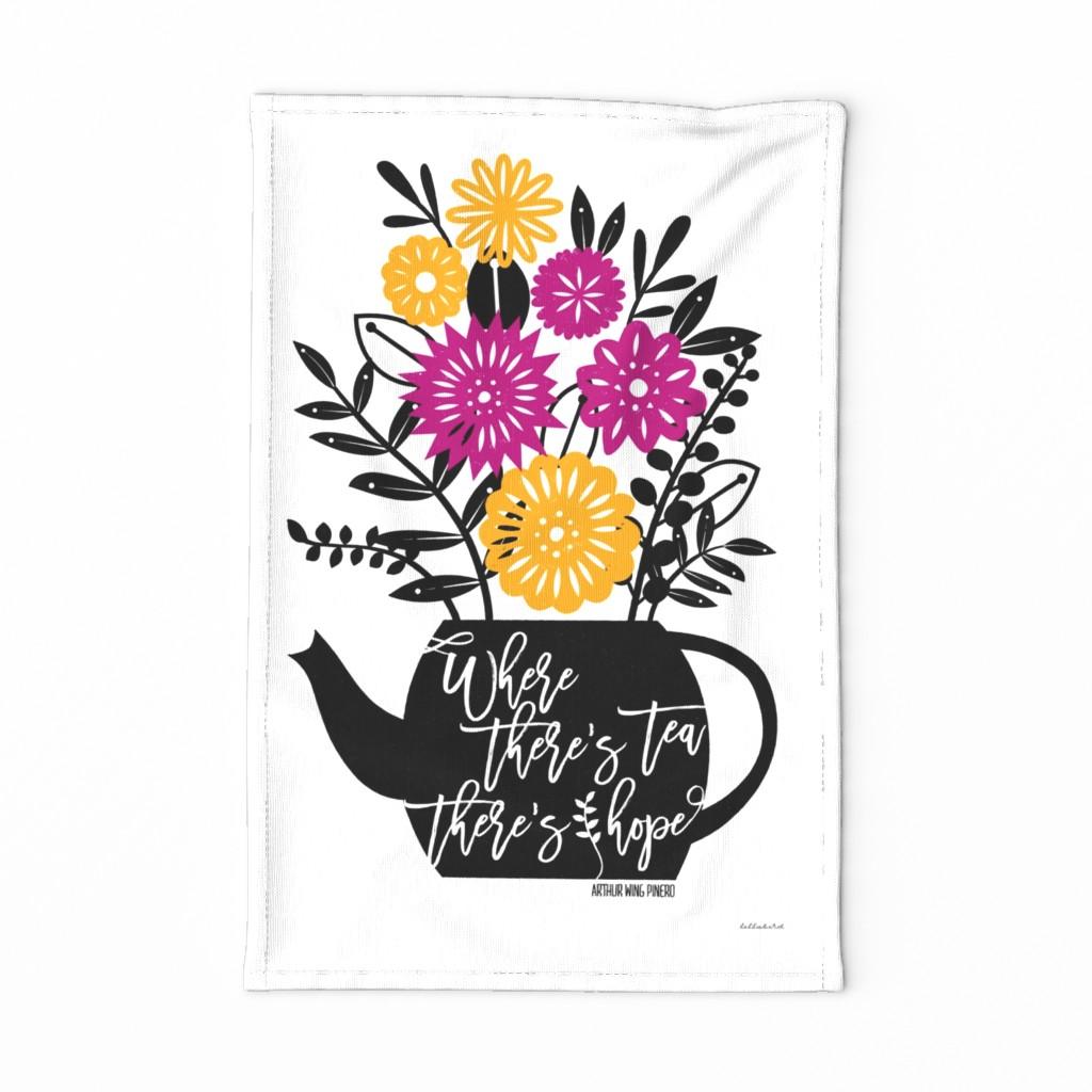 Special Edition Spoonflower Tea Towel featuring Tea & Hope Tea Towel by lellobird