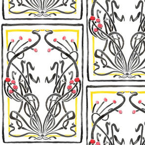 Art Nouveau Floral Illustration