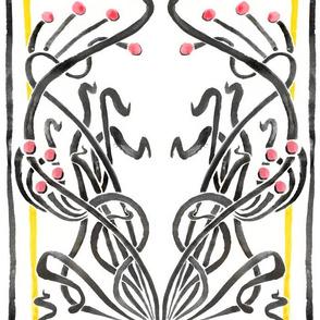 Art Nouveau Floral Illustration Lg