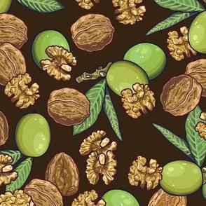 Dark, cheeky walnuts