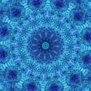 Blue Fractal Kaleidoscope