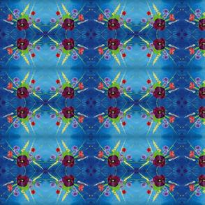 Pansy Bouquet Deep Blue