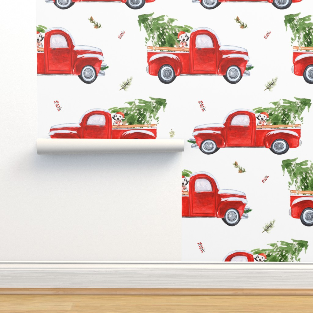 """Isobar Durable Wallpaper featuring 4"""" Best Friend & Christmas Truck by shopcabin"""