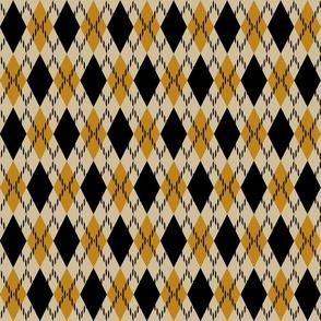 Black and yellow argyle