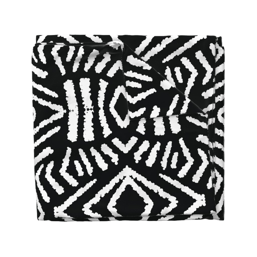 Wyandotte Duvet Cover featuring diamonds_unknown_black_large by blayney-paul