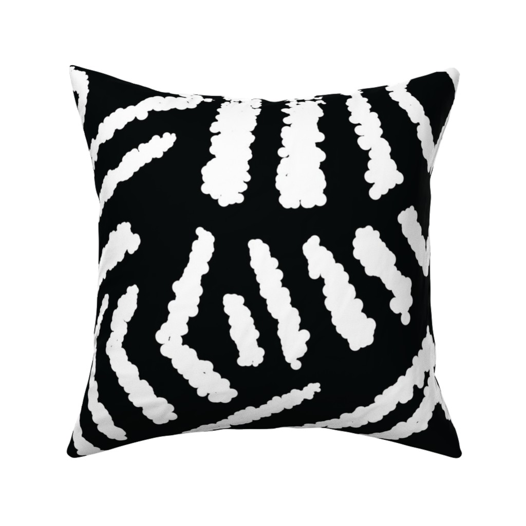 Catalan Throw Pillow featuring diamonds_unknown_black_large by blayney-paul