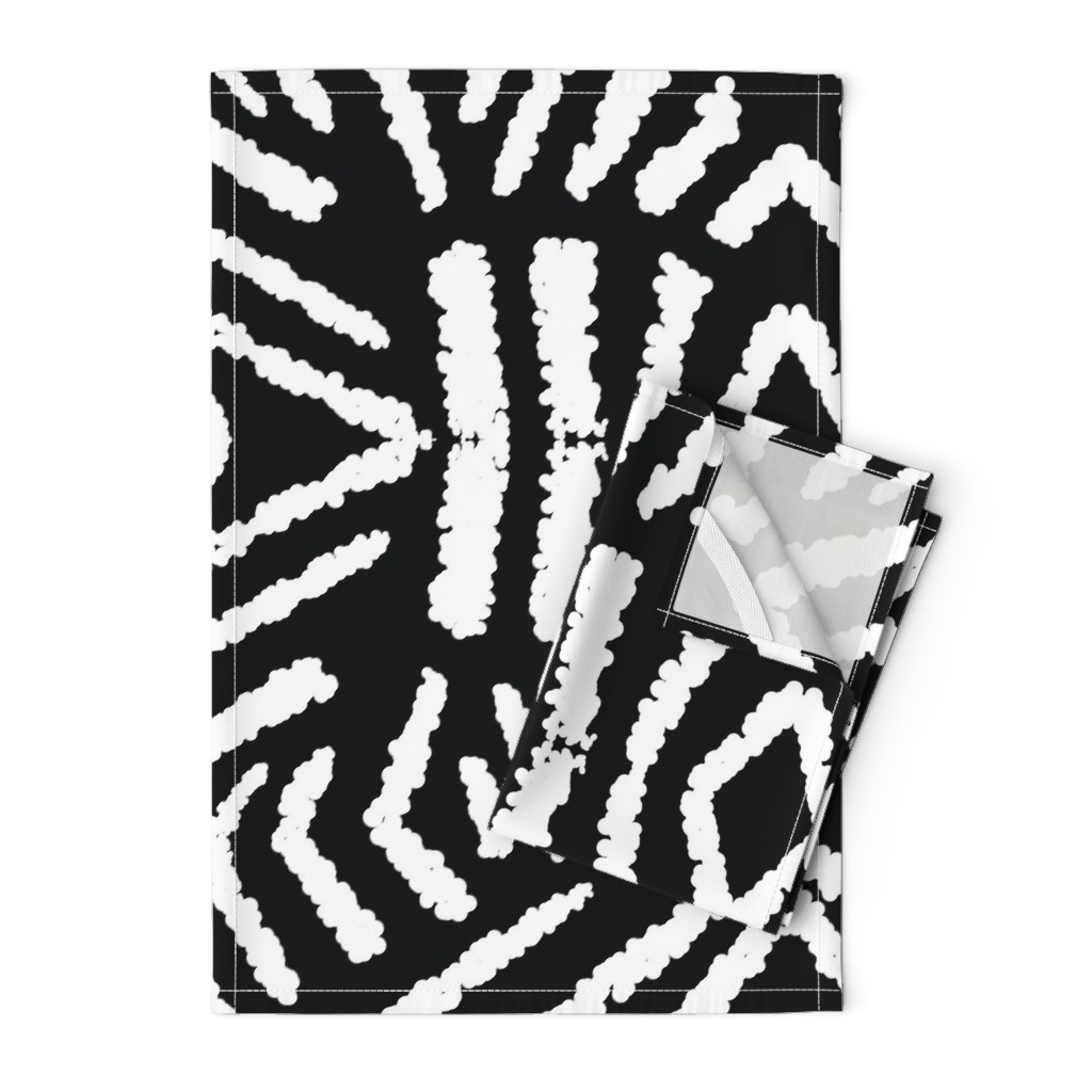 Orpington Tea Towels featuring diamonds_unknown_black_large by blayney-paul