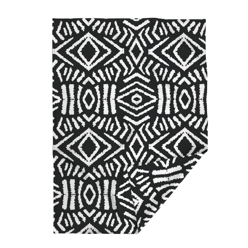 Lakenvelder Throw Blanket featuring diamonds_unknown_black_large by blayney-paul