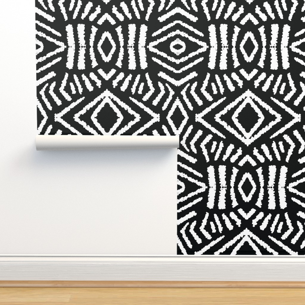 Isobar Durable Wallpaper featuring diamonds_unknown_black_large by blayney-paul