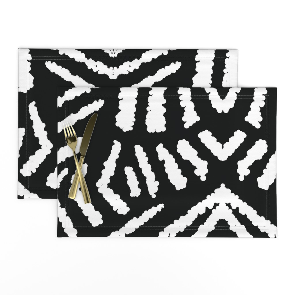 Lamona Cloth Placemats featuring diamonds_unknown_black_large by blayney-paul