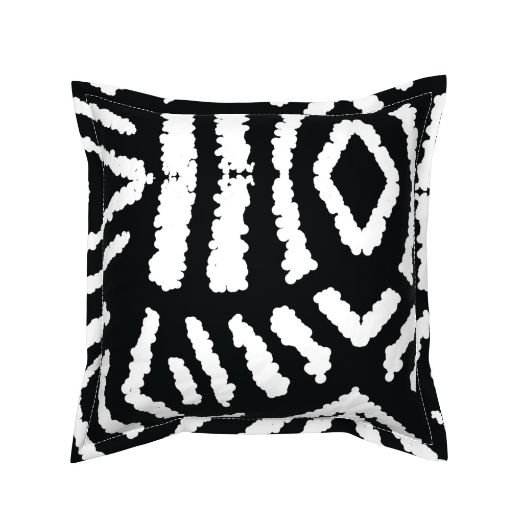 Serama Throw Pillow featuring diamonds_unknown_black_large by blayney-paul