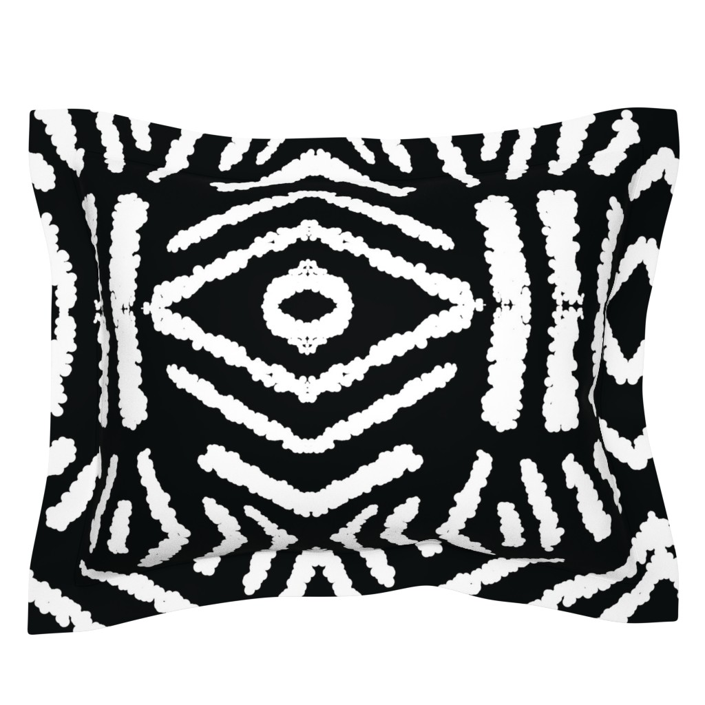 Sebright Pillow Sham featuring diamonds_unknown_black_large by blayney-paul