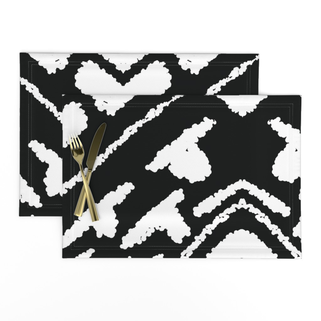 Lamona Cloth Placemats featuring diamonds_valuable_black_large by blayney-paul