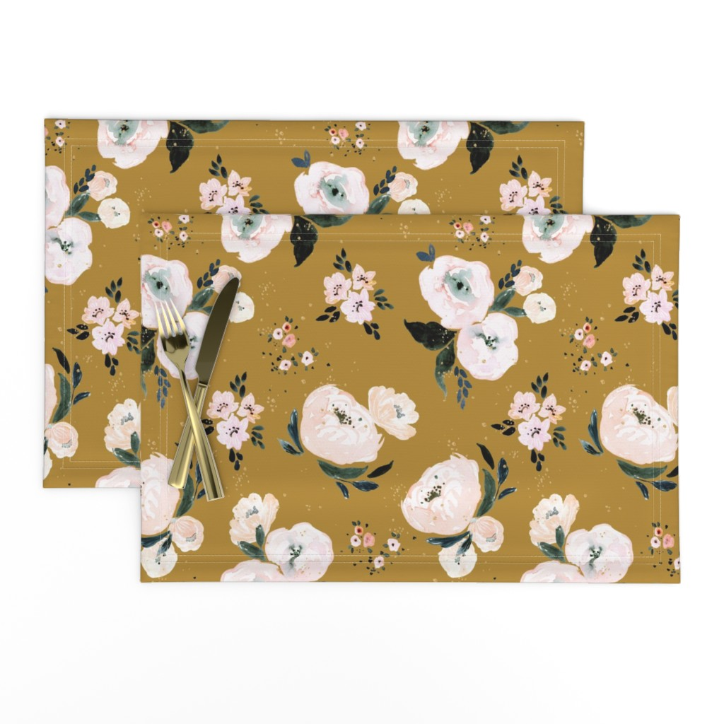 Lamona Cloth Placemats featuring Janice Floral vintage by crystal_walen