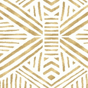Tribal Geometric Gold