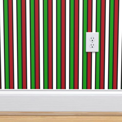 6878136 dark red white christmas green black vertical stripes by mtothefifthpower
