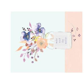 Autumn Flowers in a Jar with 2018 Calendar