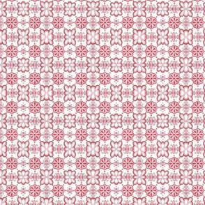 Red Floral Tile