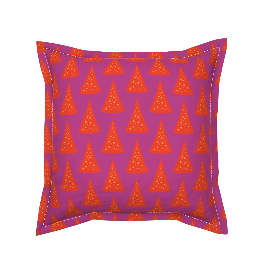 Serama Throw Pillow featuring Christmas Tree in a Hot Climate 6 by anniedeb
