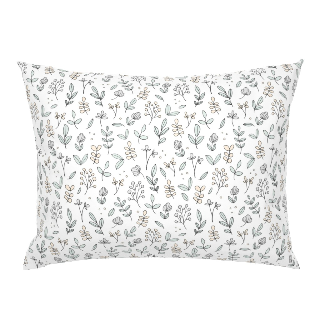 Campine Pillow Sham featuring Delicate Floral by shelbyallison