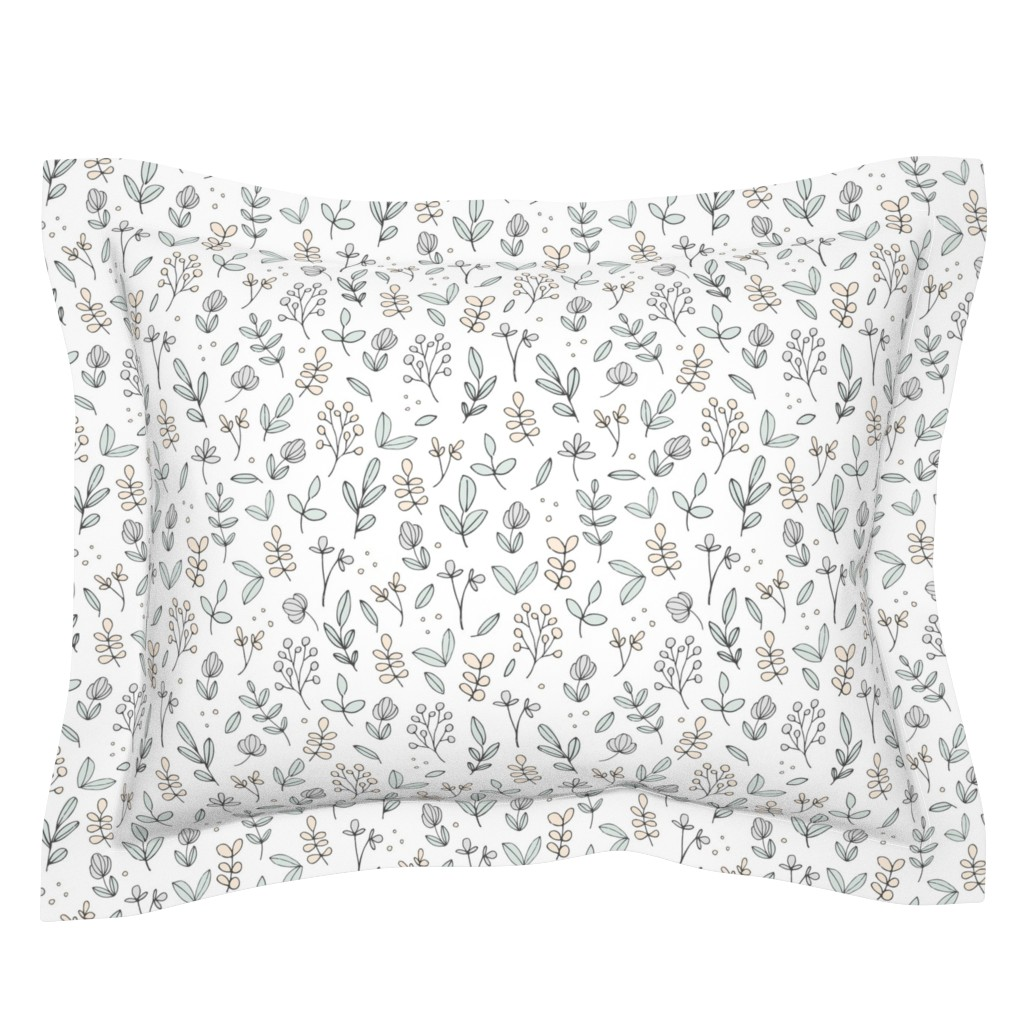 Sebright Pillow Sham featuring Delicate Floral by shelbyallison