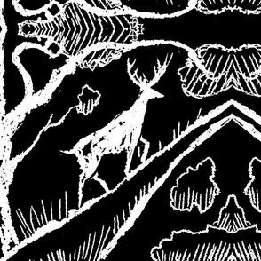 forest_deer_black