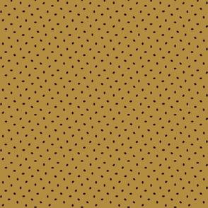 Coffee bean dots on cafe au lait