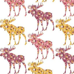"""3"""" Floral Moose Silhouettes"""