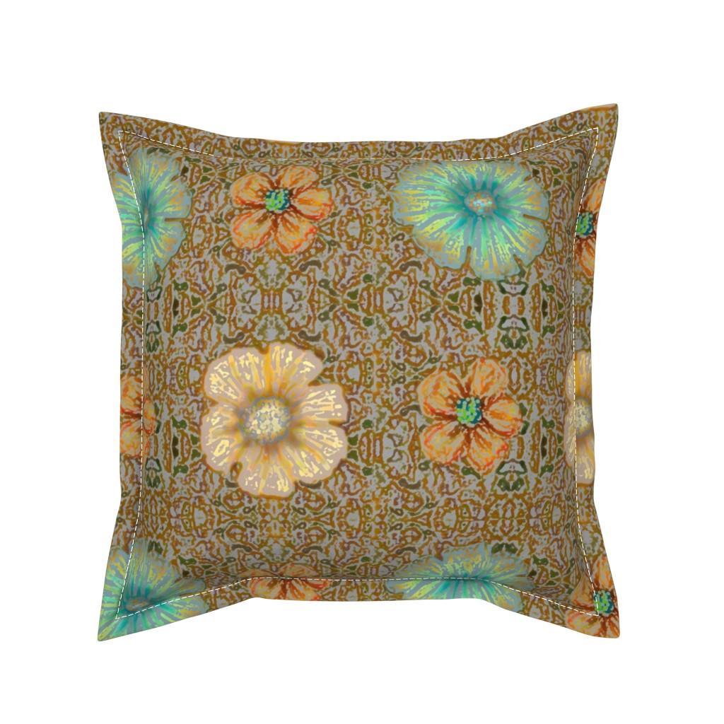 Serama Throw Pillow featuring Boho Grande Batik by clearwaterszendenstudio
